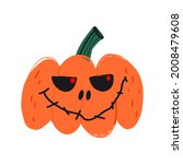 creepy spooky jack o lantern... | Shutterstock .eps vector #2008479608