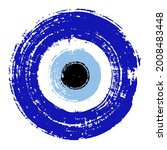 grunge hand drawn blue turkish... | Shutterstock .eps vector #2008483448