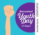 happy youth day  international... | Shutterstock .eps vector #2008503932
