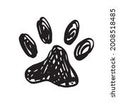 ink dog paw  grunge style ...   Shutterstock .eps vector #2008518485
