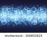 blue   glowing background with... | Shutterstock .eps vector #200852825