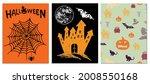 halloween symbols hand drawn...   Shutterstock .eps vector #2008550168
