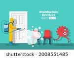 disinfection of office room.... | Shutterstock .eps vector #2008551485