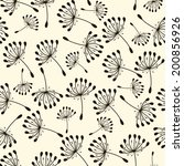 seamless pattern. flying of... | Shutterstock .eps vector #200856926