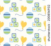 seamless pattern for newborn... | Shutterstock .eps vector #200856932