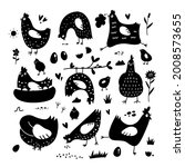 Clipart Of Chickens  Hens ...