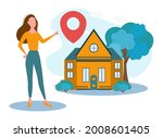 a real estate agent offers a... | Shutterstock .eps vector #2008601405