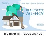 a real estate agent offers a... | Shutterstock .eps vector #2008601408