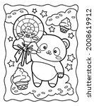 Kawaii Coloring Page Cool Panda ...