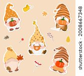 vector   collection of gnome... | Shutterstock .eps vector #2008667348