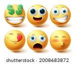 emoji vector set. emojis... | Shutterstock .eps vector #2008683872