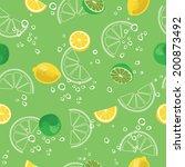 lemon and lime lemonade... | Shutterstock .eps vector #200873492
