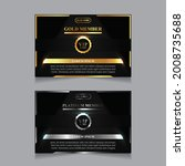 vector vip golden and platinum...   Shutterstock .eps vector #2008735688