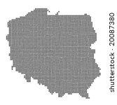 map of poland greey balls... | Shutterstock .eps vector #20087380