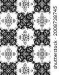ornament with elements of black ... | Shutterstock . vector #2008738745