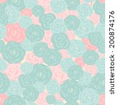 seamless floral pattern.... | Shutterstock .eps vector #200874176