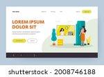 woman doing breast examination...   Shutterstock .eps vector #2008746188