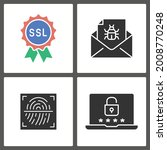 data protection icons. vector... | Shutterstock .eps vector #2008770248