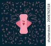 poster menstruation female...   Shutterstock .eps vector #2008782518