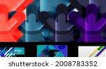 minimal geometric wallpapers ... | Shutterstock .eps vector #2008783352