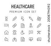 premium pack of healthcare line ...