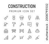 premium pack of construction... | Shutterstock .eps vector #2008795532