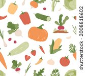 seamless pattern with fresh...   Shutterstock .eps vector #2008818602