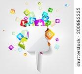 application button.social media.... | Shutterstock . vector #200882225