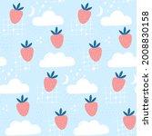 strawberry in the sky  kids...   Shutterstock .eps vector #2008830158