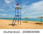 Lifeguard Tower On The Beach In ...