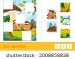Cut And Glue Vector Puzzle...