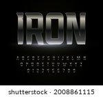 iron font alphabet metal steel... | Shutterstock .eps vector #2008861115