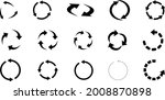 set of arrow recycle  means... | Shutterstock .eps vector #2008870898