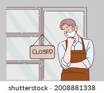 businessman has sad mood with... | Shutterstock .eps vector #2008881338