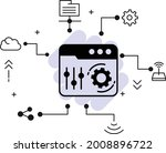 browser settings and config...   Shutterstock .eps vector #2008896722