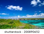 caribbean sea and perfect sky | Shutterstock . vector #200890652