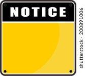 notice sign   Shutterstock .eps vector #200891006