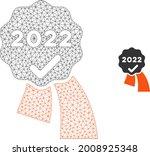 mesh 2022 approve award model... | Shutterstock .eps vector #2008925348