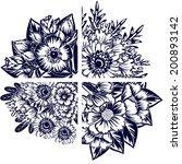 flower set | Shutterstock .eps vector #200893142