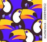 seamless pattern with bird...   Shutterstock .eps vector #2008940012