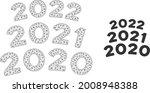 mesh 2020   2021 arc texts... | Shutterstock .eps vector #2008948388