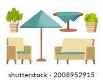 backyard furniture set ...   Shutterstock .eps vector #2008952915