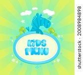 kids menu vector mockup with...   Shutterstock .eps vector #2008984898