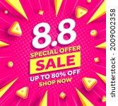 vector of 8.8 shopping day... | Shutterstock .eps vector #2009002358