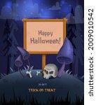 halloween background with empty ... | Shutterstock .eps vector #2009010542
