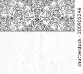 decorative floral background ... | Shutterstock .eps vector #200903246