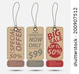 price tags vector | Shutterstock .eps vector #200907512