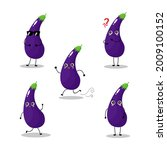 vector illustration of eggplant ...   Shutterstock .eps vector #2009100152