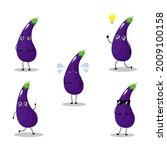 vector illustration of eggplant ...   Shutterstock .eps vector #2009100158