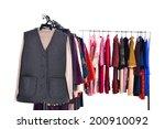 mix color fashion female... | Shutterstock . vector #200910092